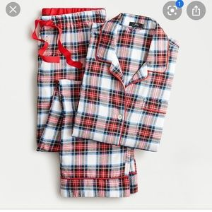 J crew Flannel Pajama in white out plaid